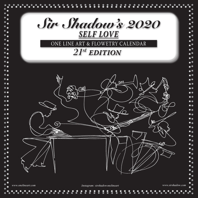 2020 One Line Art & Flowetry Calendar - SELF LOVE