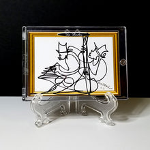 Load image into Gallery viewer, BOURBON STREET BOYS - Original One Line Art Card - Acrylic Encased w/ Table Top Easel