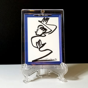 DIVA DANCING - Original One Line Art Card - Acrylic Encased w/ Table Top Easel