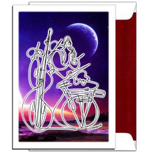 "Load image into Gallery viewer, YOU THRILL ME - Blue Moon Trio 5"" x 7"" Greeting Card"