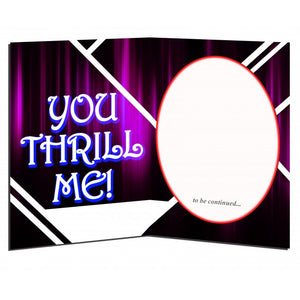 "YOU THRILL ME - Blue Moon Trio 5"" x 7"" Greeting Card"