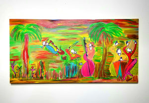 ISLAND OF JAZZ - Band - Original Painting