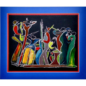 MOONLIGHT JUBILEE - Jazz / Blues Band- Original Painting