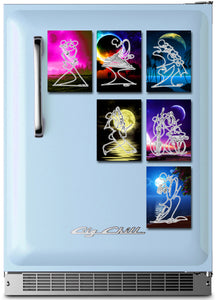 MIDNIGHT KISS - ACEO Refrigerator Magnet DS01