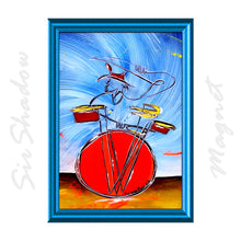 Load image into Gallery viewer, DONNIE'S DAZZLING DRUMS - ACEO Refrigerator Magnet SP04