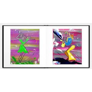 ONE LINE ART PAINTINGS - Hardcover Luxurious Book - Limited Edition /333