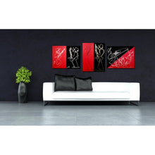 Load image into Gallery viewer, RED BLACK SET - 3 Piece Original Painting Collection