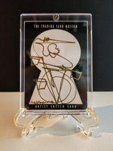 Load image into Gallery viewer, GOLDEN BEAT DOWN - Original One Line Art Card - Acrylic Encased w/ Table Top Easel