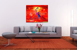 DATE NIGHT SAX - Lovers - Original Painting