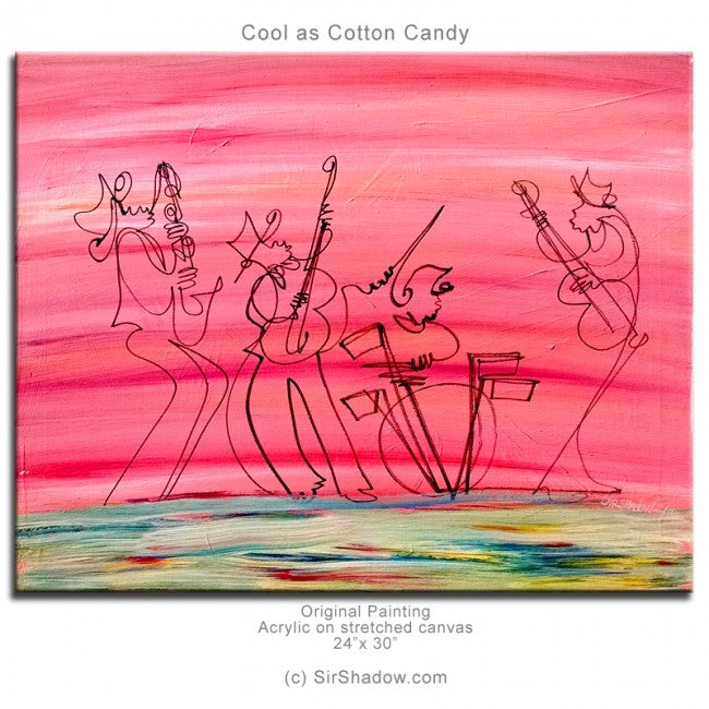 COOL AS COTTON CANDY - Band - Original Painting