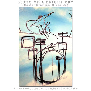 BEATS OF A BRIGHT SKY - Drummers - Original Painting