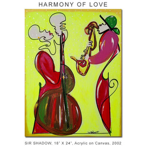 HARMONY OF LOVE - Lovers - Original Painting