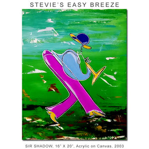 STEVIE'S EASY BREEZE - Horn Player - Original Painting