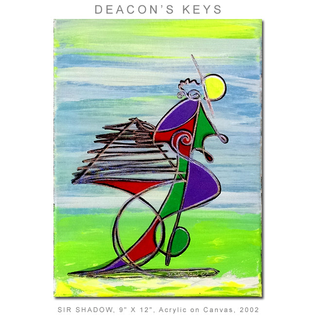 DEACON'S KEYS - Piano, Keyboard Player - Original Painting