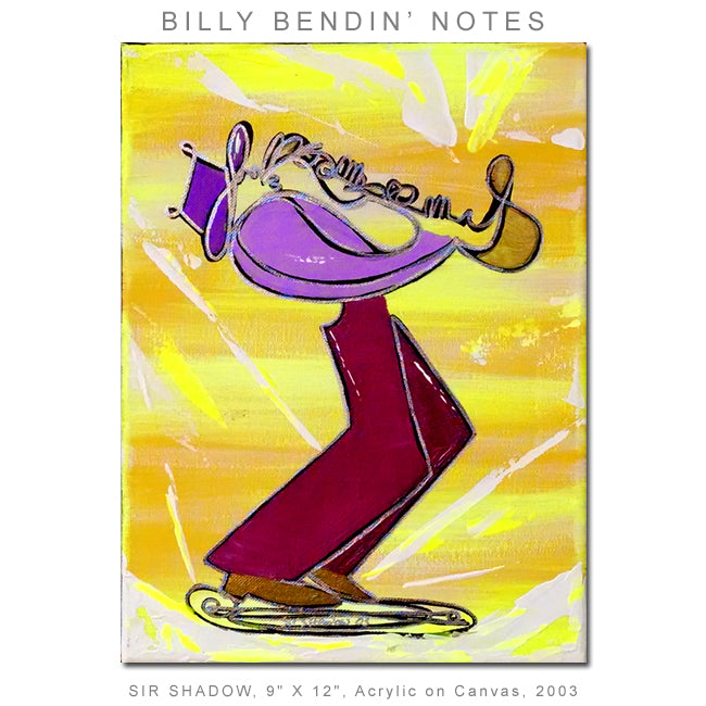 BILLY BENDIN' NOTES - Saxophone Player - Original Painting