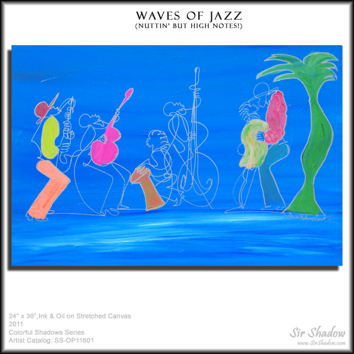 WAVES OF JAZZ - Jazz Band - Original Painting