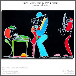 SOUNDS OF JAZZ LOVE - Lovers - Original Painting