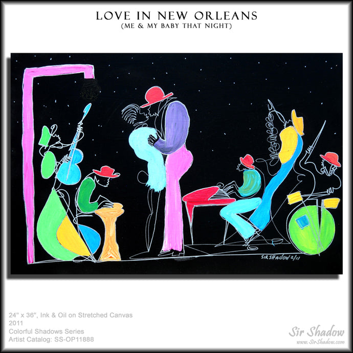 LOVE IN NEW ORLEANS - Lovers Band - Original Painting