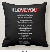 "Load image into Gallery viewer, I LOVE YOU - Double-Sided 16"" x 16"" Pillow"
