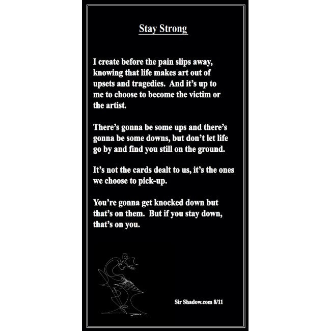 STAY STRONG - Poetry & Art Poster