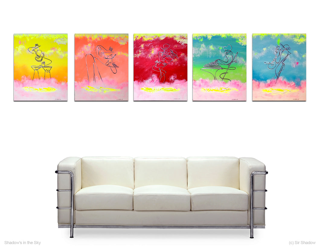 SHADOWS IN THE SKY - 5 Piece Band - Original Painting Collection