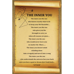 The INNER YOU - Poetry & Art Poster