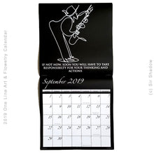 Load image into Gallery viewer, 2019 One Line Art & Flowetry Calendar - NEW YORK CITY