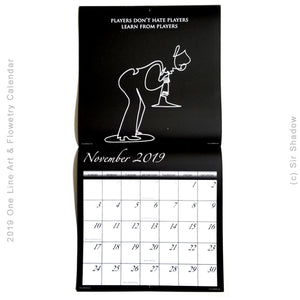 2019 One Line Art & Flowetry Calendar - NEW YORK CITY