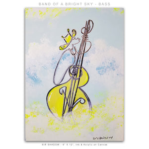 BAND OF A BRIGHT SKY - Jazz Band - 8 Piece Original Paintings Collection