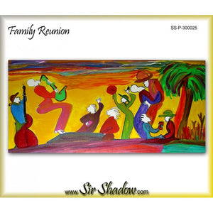 FAMILY REUNION - Jazz Band - Original Painting