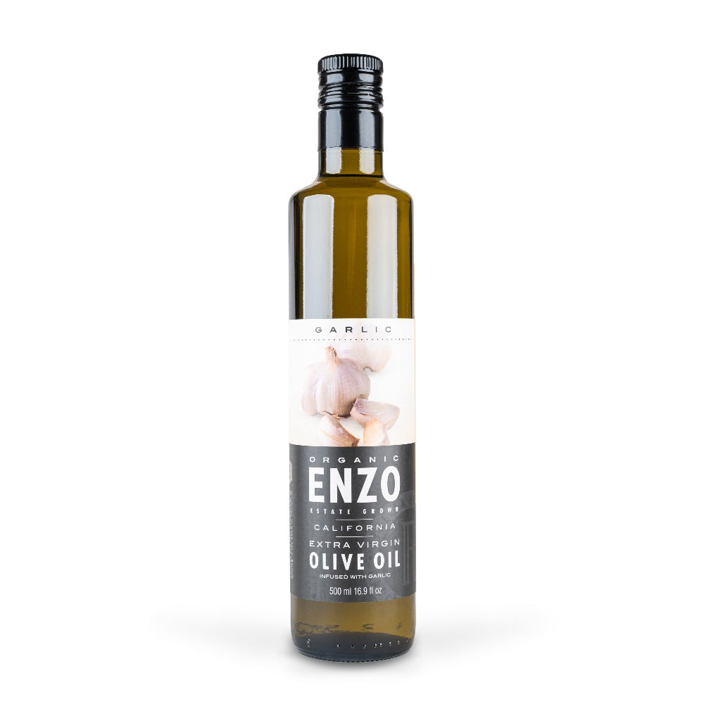 Organic Extra Virgin Olive Oil - Garlic Infused