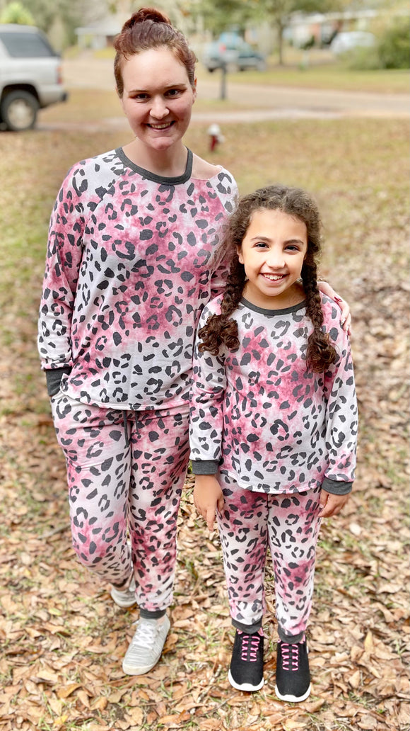 Mommy and Me Pink Leopard Blouse