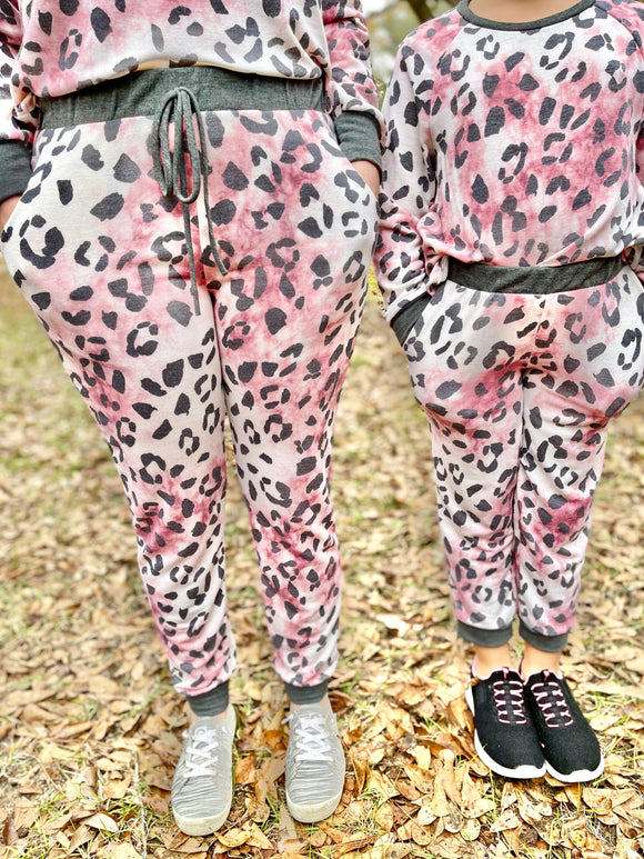 Mommy and Me Pink Leopard Bottoms