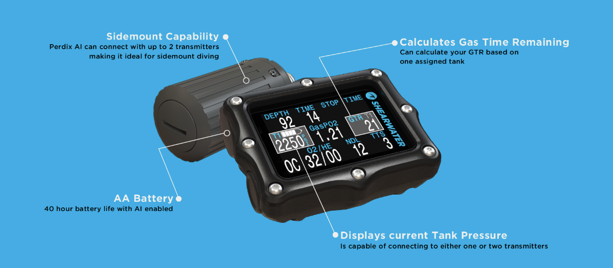 Perdix AI Features - Blue Holic Scuba