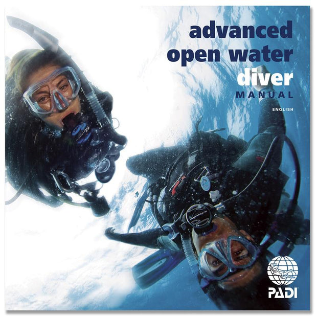 PADI Advanced Open Water Manual High Definition Quality Contract Blue Holic Scuba