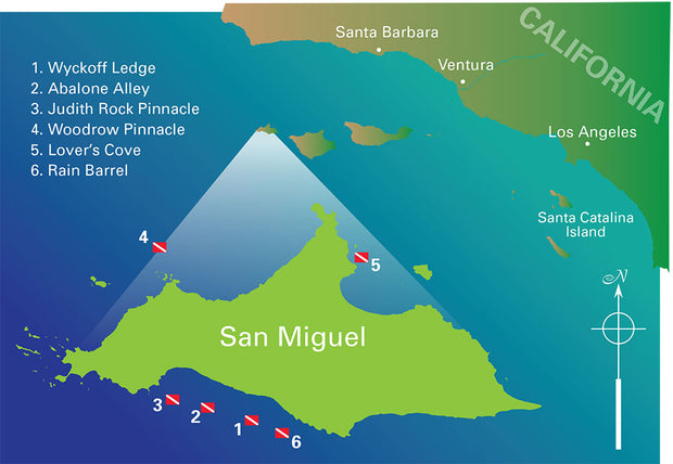 San Miguel Island Dive Sites Blue Holic Scuba