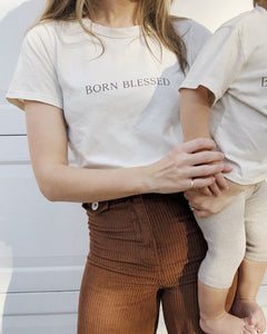 Born Blessed Women's Tee in Bone