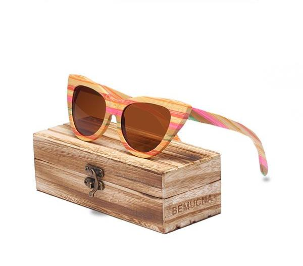 Sunglasses Vintage Wood Sun Glasses
