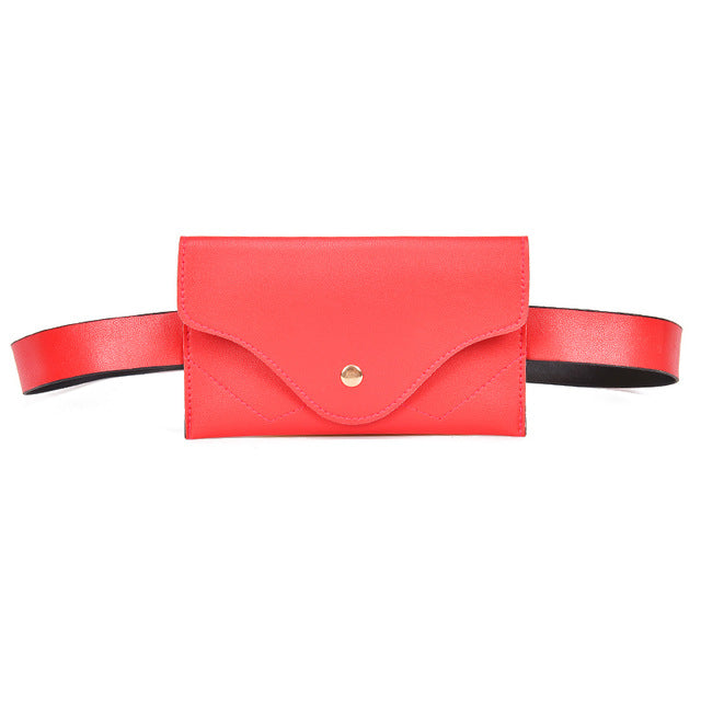 Fashion Women Waist Bag PU Leather Belt Bag Pack Chest Handbag For Women Female Girl Travel Vintage Waist Pouch Fanny Pack
