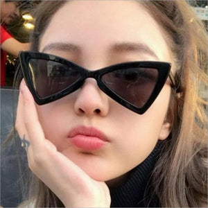 Winful Retro Triangle Sunglasses Women Cute Small Black White glasses 2018 Vintage Sun Glasses Sexy Red Female UV400