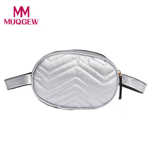 Waist Pack Women Wave Pattern Leather Fanny Pack Chest Bags for Women 2018 Ladies Phone Bag Travel Money Belt Bolsa Functional