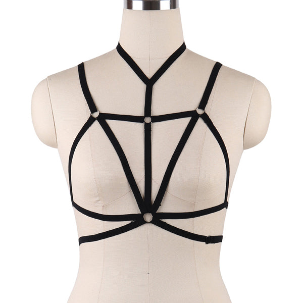 Rave Wear Star Harness Bra Gothic Pentagram Harness Punk