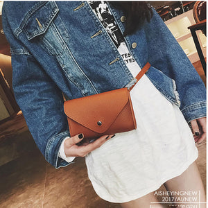 2018 New Fashion Women Waist Bag PU Leather Women Phone Bag Trendy Women Waist Pack Red  Fanny Pack Belt Bag Girl Female