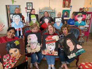 Mixed Media Portrait Class