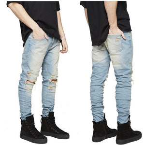 Men Ripped Jeans With Holes - thistylish