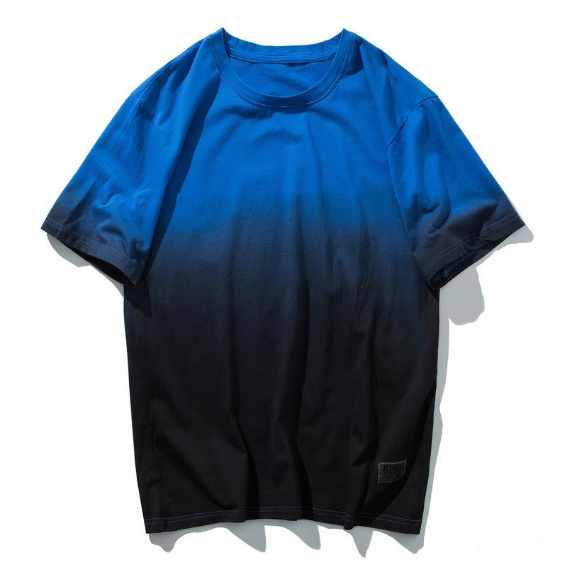 Men Cotton Gradient Color T Shirt