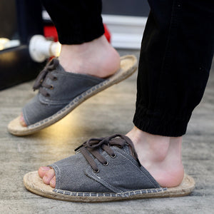 Men linene loafer shoes