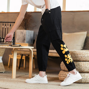 Chinese style overalls Jianghu large size men's pants