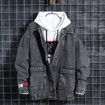Men Jackets Spring Autumn Fake Two Pieces Patchwork Denim Jacket