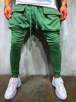 Color Pockets Men s Hip Hop Jogger Pants
